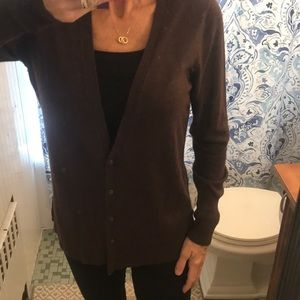 Mossimo brown cardigan sweater